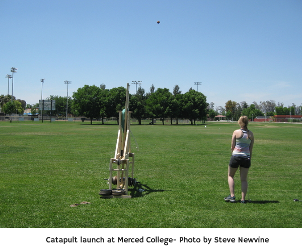 Catapult launch at Merced College- Photo