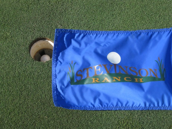 Stevinson Ranch Golf Course Flag, Photo by Newvine Personal Collection