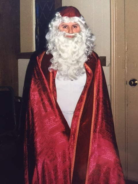 St. Nicholas prepares for his visit at St. Agnes Church in Avon, NY.  Photo: Newvine Family Collection.