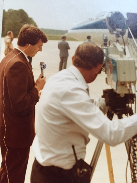 Covering the news in Huntsville, Alabama.  Photo from the Newvine Personal Collection