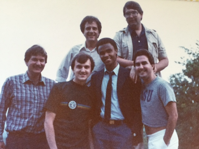 A very young Steve Newvine (bottom left) with co-workers in Huntsville, Alabama.  Photo from the Newvine Personal Collection