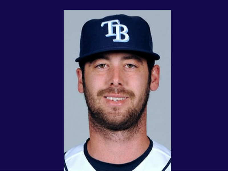 Dylan Floro, Tampa Bay Devil Rays.  Photo: Major League Baseball