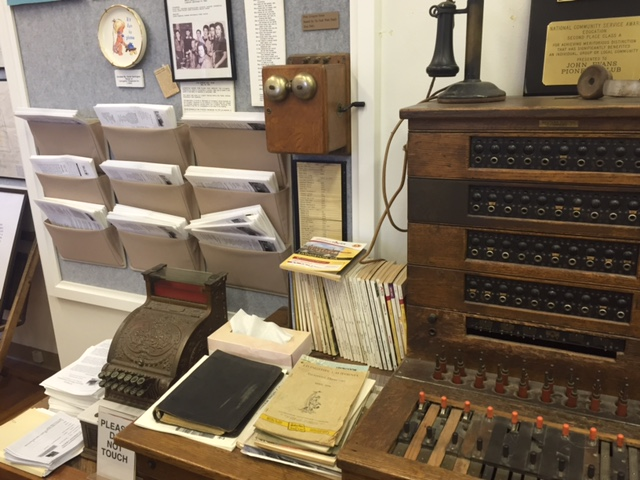 Telephone operator's station display at the Livingston Historical Society Museum.  Photo by Steve Newvine