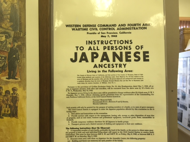 Japanese internment artifacts at the Livingston Historical Society Museum.  Photo by Steve Newvine