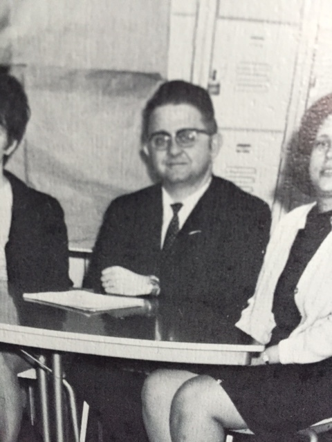 Dave Trautlein from the early 1970s when he served as Dean of the College, at Herkimer County Community College, now known as Herkimer College.  Photo from Factory 70 (Herkimer College yearbook)