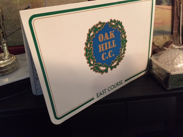 The score card from my one and only round at Oak Hill Country Club. Picture from the Newvine Personal Collection
