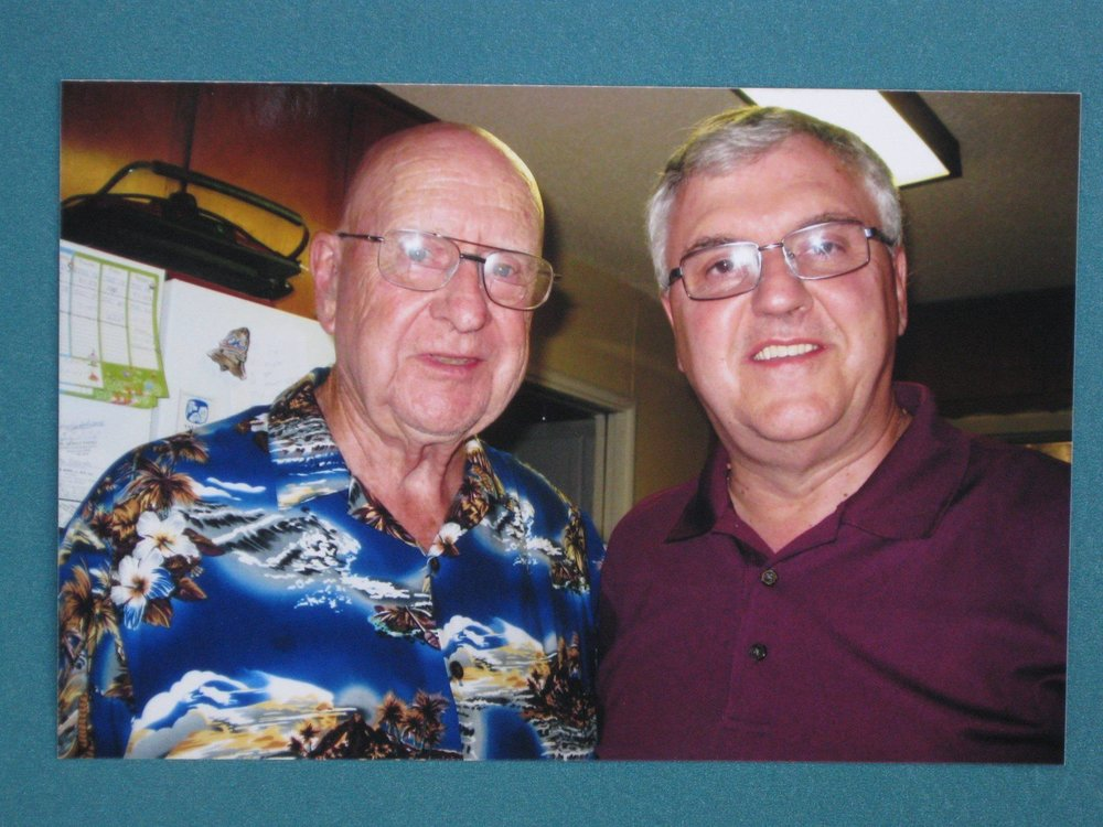 Steve and his friend and golf buddy, the late Jim North.  Picture from the Newvine Personal Collection