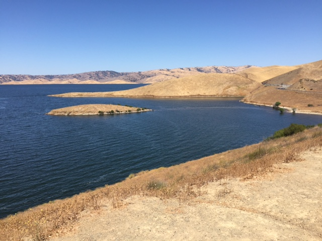 The San Luis Reservoir in Los Banos, Merced County.  Photo by Steve Newvine