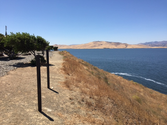 An up close look at the water in the San Luis Reservoir.  Photo by Steve Newvine