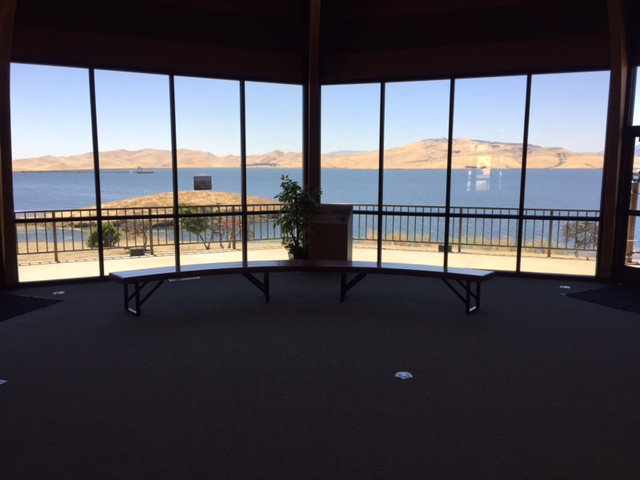 The Visitor Center at the Romero Outlook of the San Luis Reservoir.  Photo by Steve Newvine