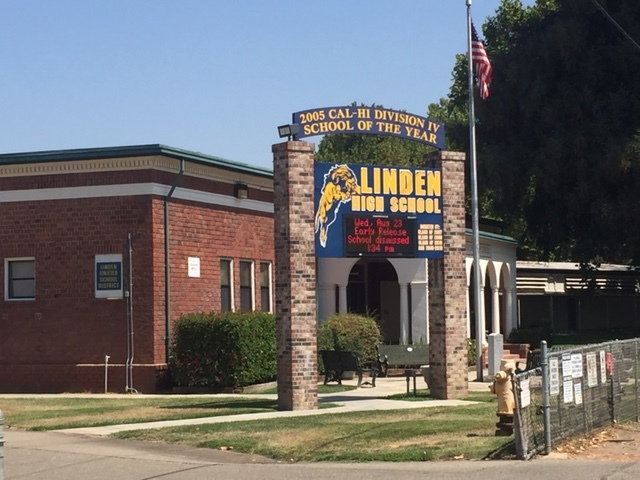 Linden High School is proud of their alumnus Aaron Judge.  Photo by Steve Newvine