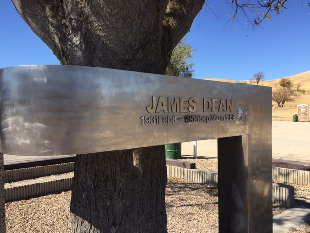 James Dean Memorial in Cholame, San Luis Obispo County, California.  Photo by Steve Newvine
