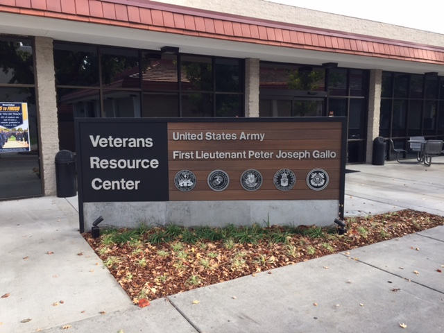 The First Lieutenant Peter Joseph Gallo Veterans Resource Center is part of student life at Merced College.  Photo by Steve Newvine