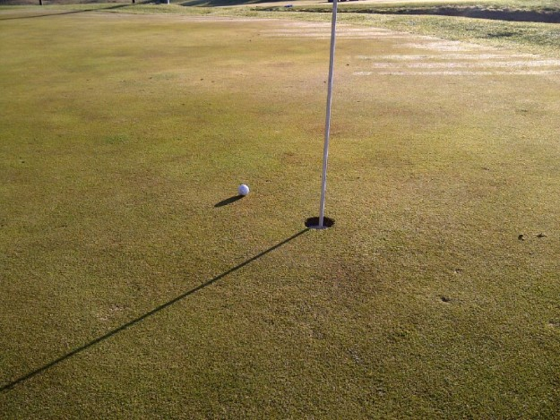 The closest my ball ever got to the cup off a tee shot happened at River Park Golf Course in Madera.  Photo- Steve Newvine