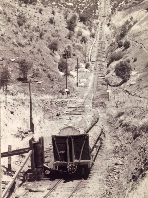 This railroad serviced the Merced Lumber Company as well as tourists interested in seeing Yosemite National Park.  Photo: Merced Lumber Company, Merced Falls exhibit at the Merced County Courthouse Museum.