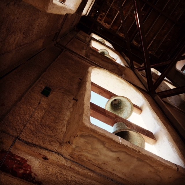 Inside the bell tower at The Hotel Mission De Oro.  Photo courtesy Shannon Cook, Director of Sales.