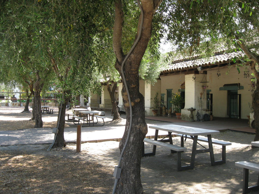 Courtyard at the Mission at San Juan Bautista.  Photo by Steve Newvine