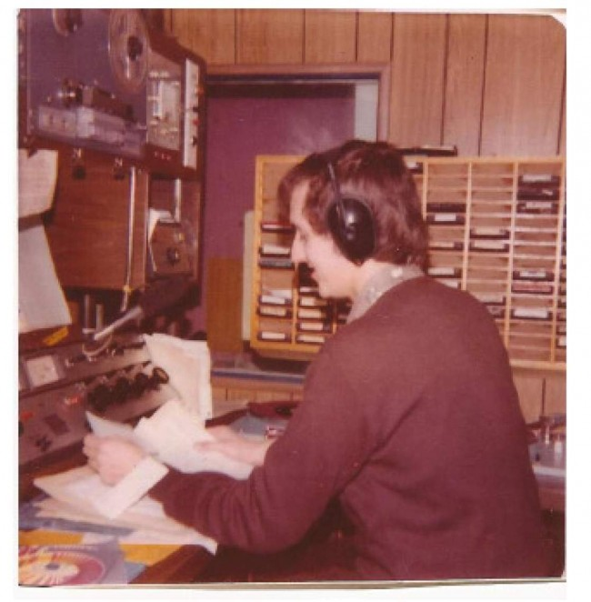Reading the news on station WBRV in Boonville, New York.  Photo: Newvine Personal Collection