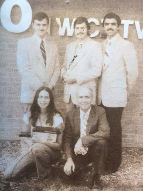 The Eyewitness News team at WICZ-TV in Binghamton, New York.  Photo: Newvine Personal Collection.