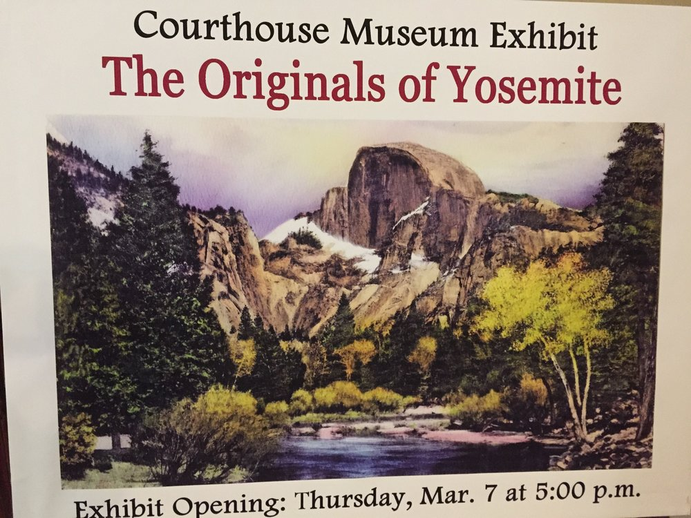 Poster showing some of the original art work included in the newest exhibit at the Courthouse Museum.
