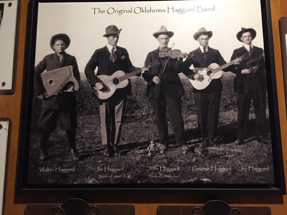 Photographs like this one of music pioneers are on display at the Bakersfield Music Hall of Fame