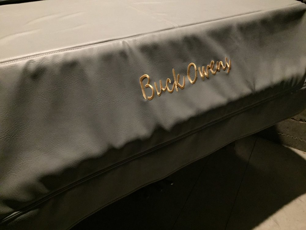This piano was made to order for the late Buck Owens. It is available to artists performing at the Bakersfield Music Hall of Fame. Photo- Steve Newvine