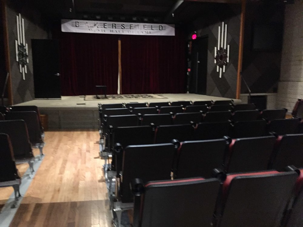 The stage for performances at the Bakersfield Music Hall of Fame. Photo- Steve Newvine