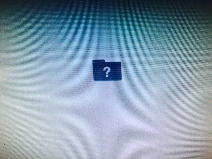 Folder icon on a macbook usually means faulty hard dive