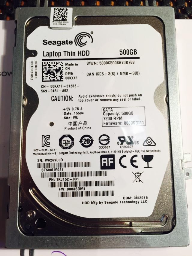 Seagate 500gb thin