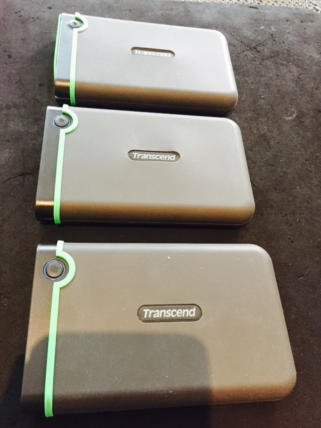 3 transcend hard drives
