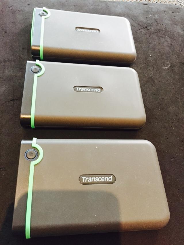 3 transcend hard drives