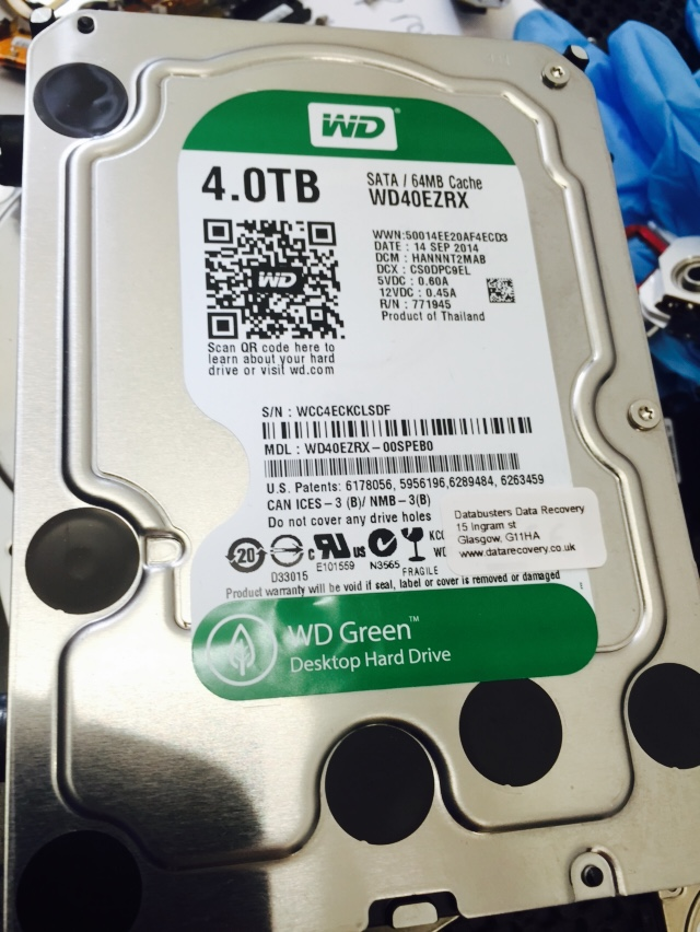 4TB WD in for recovery