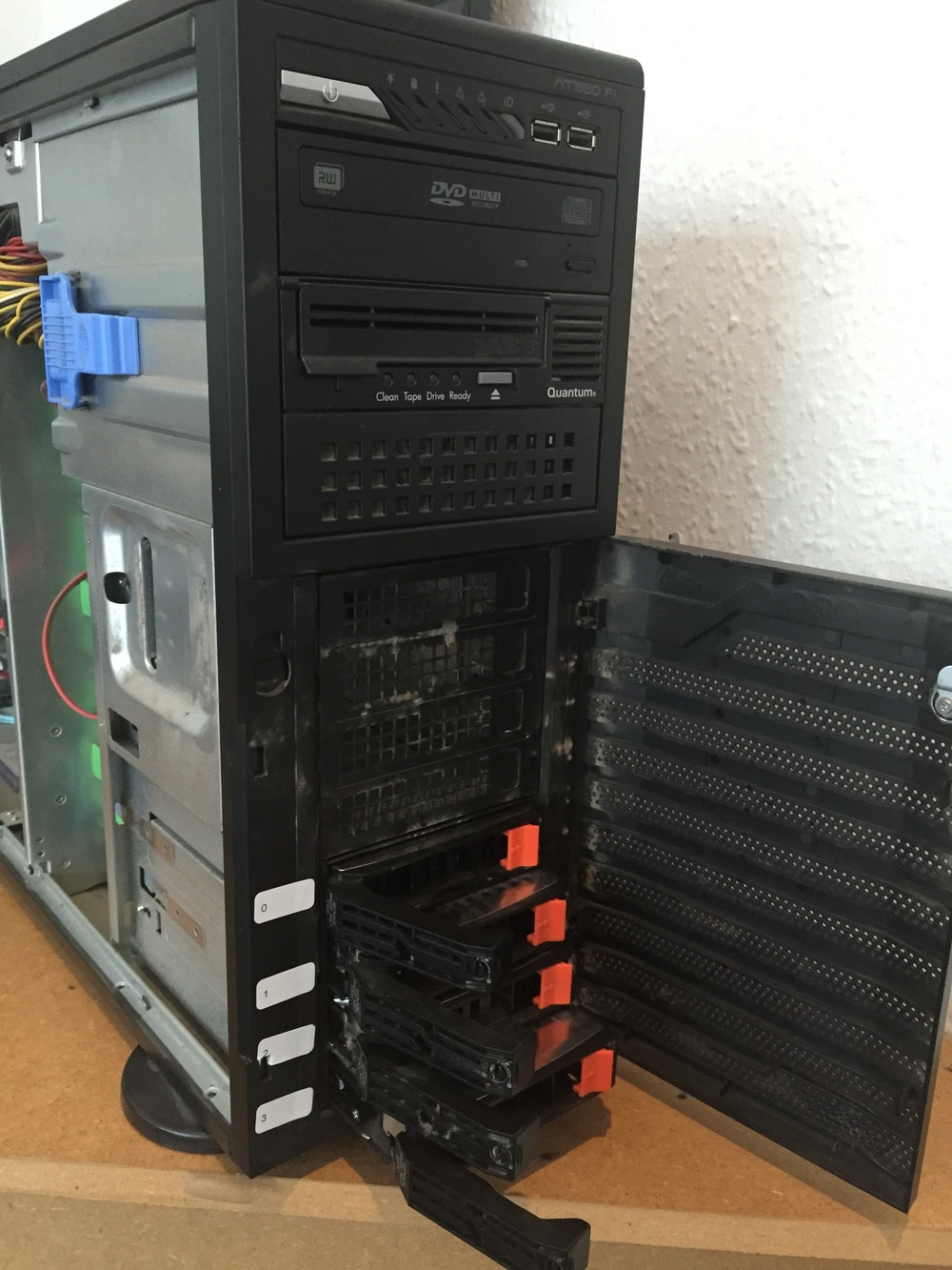 Pulling SAS drives out a server