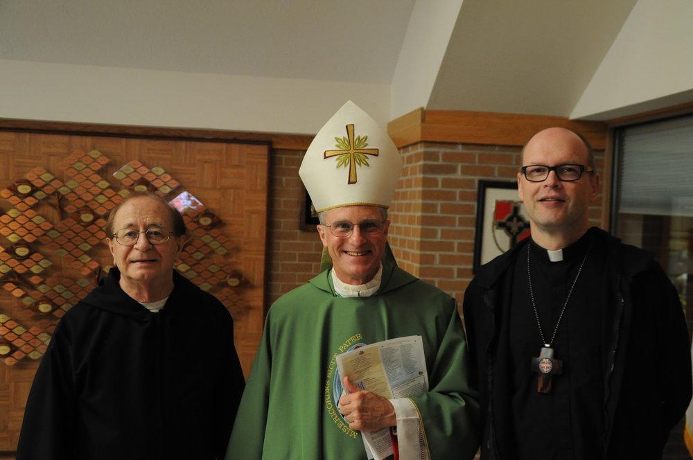 Fr. Krizner, Archbishop Broglio, Abbott Hoover