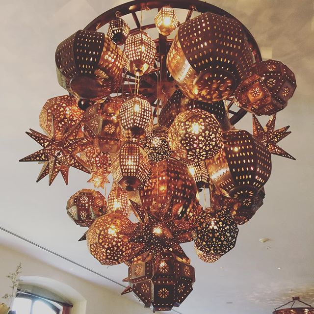 Mexican chandelier at the Rosewood Hotel, San Miguel de Allende