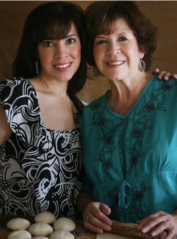 Yvette Marquez-Sharpnack and mom.  (Photo Courtesy: MuyBuenoCookbook.com)