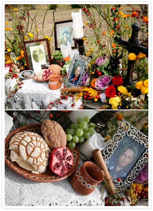 Day-of-the-Dead altar commemorating Jesusita, Yvette Marquez-Sharpnack's grandmother.  (Photo Courtesy: MuyBuenoCookbook.com)
