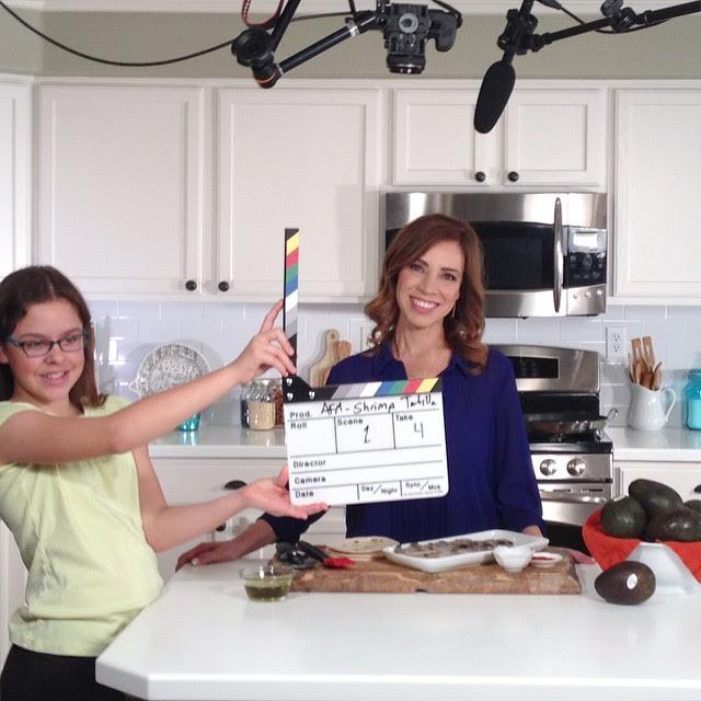 Yvette shooting YouTube videos.  (Photo Courtesy: MuyBuenoCookbook.com)