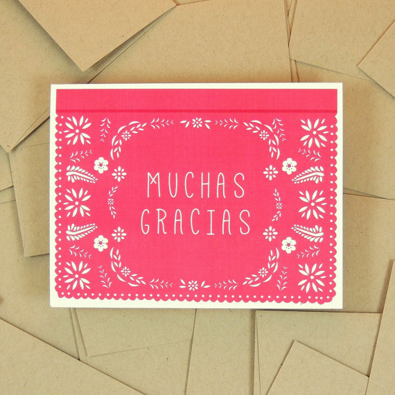JPstationery   Papel Picado Thank You Card // $1.75