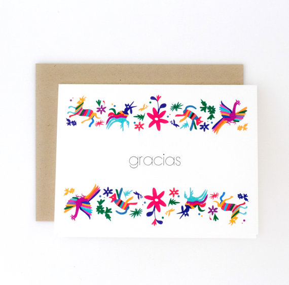 JPstationery   Otomí Thank You Card // $1.75
