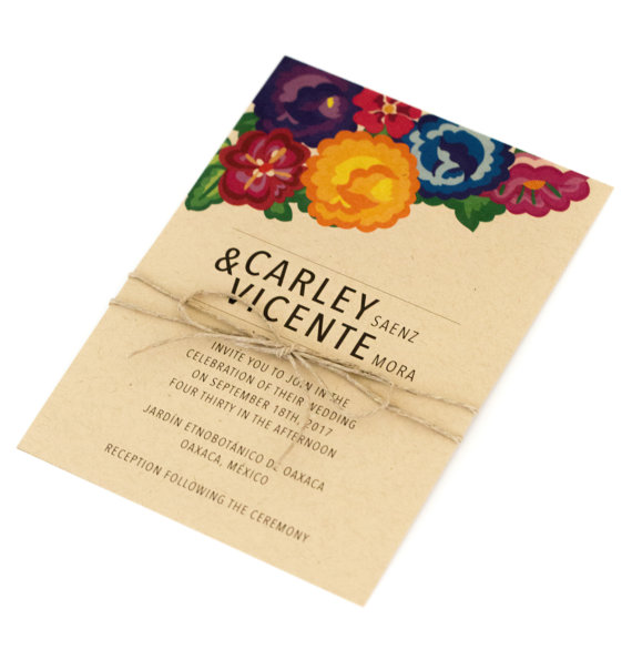 JPstationery   Floral Wedding Invite // $3.75