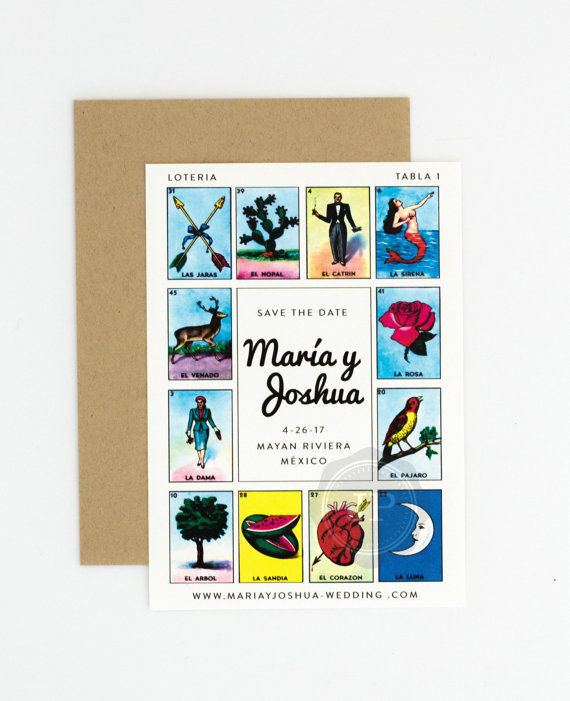 JPstationery Lotería Wedding Save the Date // $1.50