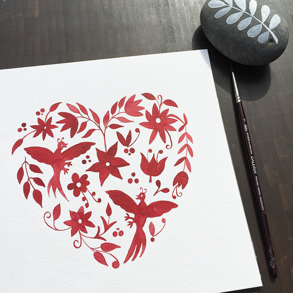ClaudiaCalderas Otomi Heart $20.00
