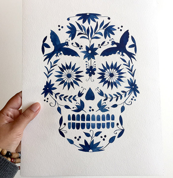 ClaudiaCalderas Day of the Dead $23.00