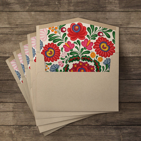 iinviteyou Huipil lined envelopes // $13.00