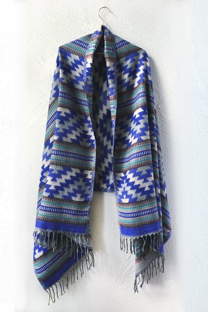 ShopMucho    Southwest Style Chal in Blue Aztec // $49.99