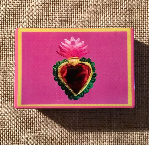 SololiShop    Sagrado corazón jewelry box (sacred heart jewelry box) // $20.00