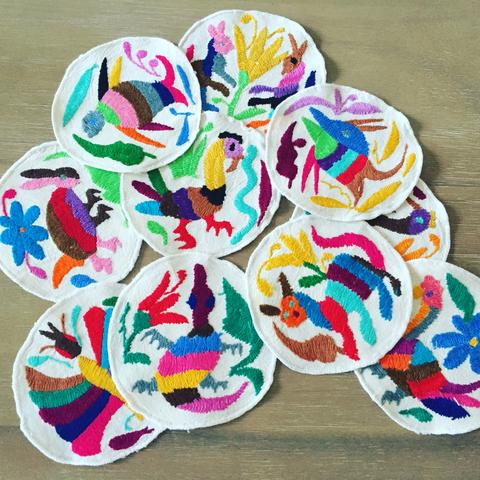 MesaChic Otomi Round Coasters, Set of 4 // $28.95