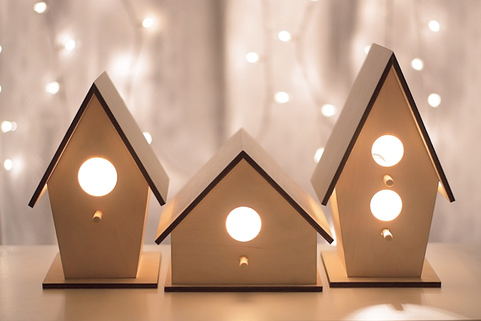 Classic Clean Birdhouse Night Light in Three Styles $34.00