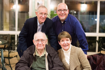 Trustees: Charlie Brown, Rob Brown, Keith Brown Dubois, pictured with founding trustee, Dr. Charles S. Brown.